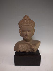 仏教美術の買取り(クメール王朝期仏頭)杉並区善福寺