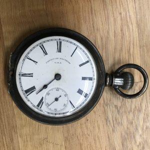 横浜市青葉区にてアンティーク時計・懐中時計の買取(ウォルサム製懐中時計他)